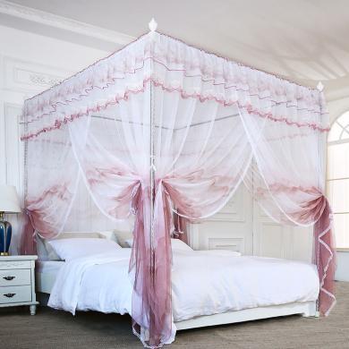 米卡多蚊帐8856款落地式家用宫廷蚊帐1.8m床双人1.5m米加密加厚蚊帐