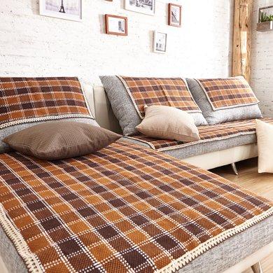 芒更家纺 极有家风格棉麻沙发垫-卡布奇诺