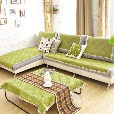 芒更家紡 極有家風格棉麻沙發墊-綠野仙蹤