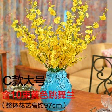 墨菲手工歐式花瓶擺件客廳家居裝飾工藝品陶瓷現代簡約創意插花器