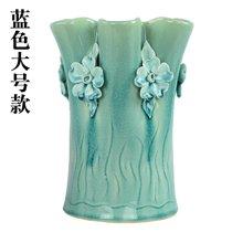 墨菲歐式手捏陶瓷花瓶 創意客廳擺件簡約裝飾干花郁金香仿真花藝