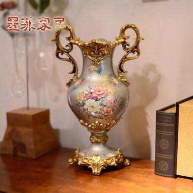 墨菲 浮生歐式花瓶裝飾品餐桌客廳書房花器美式家居創意插花擺件