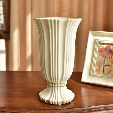 墨菲歐式陶瓷花瓶美式客廳餐桌家居裝飾擺件仿真花鮮花插花器