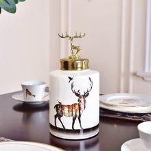 墨菲 家居样板房陶瓷储物罐花瓶摆件 现代创意客厅玄关装饰品摆设