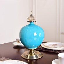 墨菲 歐式家居客廳創意陶瓷花瓶擺件現代玄關干花插花束裝飾擺設