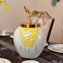 DEVY歐式新古典陶瓷花瓶現代客廳玄關收納罐水培插花器裝飾品擺件