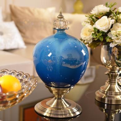 DEVY歐式輕奢陶瓷花瓶擺件美式客廳電視柜酒柜家居玄關裝飾插花器