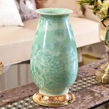 DEVY新中式陶瓷花瓶仿真插花器歐式客廳玄關電視柜裝飾收納罐擺件
