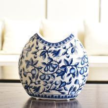 墨菲青花瓷水培花瓶新中式客廳玄關家居軟裝飾品仿真花插花器擺件