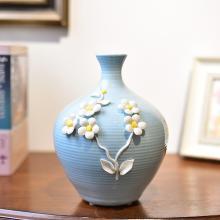 墨菲 現代簡約陶瓷花瓶歐式客廳餐桌玄關仿真花藝水培插花器擺件