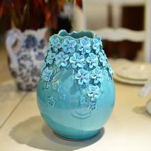 墨菲多款入歐式手工陶瓷花瓶 客廳博古架電視柜擺件仿真花藝套裝