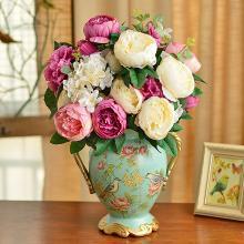 墨菲欧式田园陶瓷花瓶 美式摆件客厅家居装饰结婚礼物干花插花艺