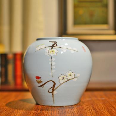 墨菲新中式現代簡約手工陶瓷水培花瓶客廳電視柜酒柜家居裝飾擺件