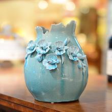 墨菲手工花瓶 歐式現代創意簡約裝飾客廳擺件陶瓷餐桌面仿真花藝