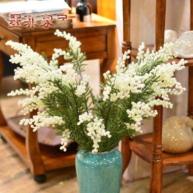 墨菲高枝櫻花假花藝客廳歐式家居裝飾花卉套裝臥室仿真花 5枝包郵