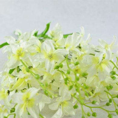 歐式客廳田園裝飾仿真花藝絹花花瓶干花假花蘭花 六角蘭