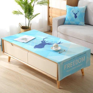 北歐棉麻長方形客廳茶幾蓋巾臺布現代簡約茶幾墊桌布布藝防塵套罩