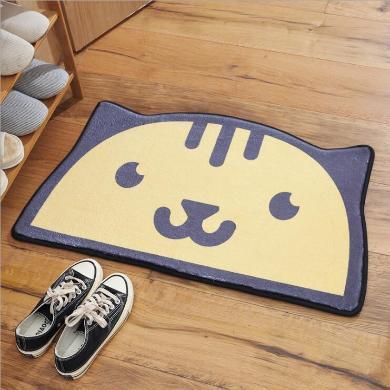 新款半圓造型腳墊家用廚房臥室衛生間浴室門口防滑吸水地墊