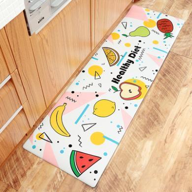 卡通日式家居耐磨防滑腳墊廚房地墊