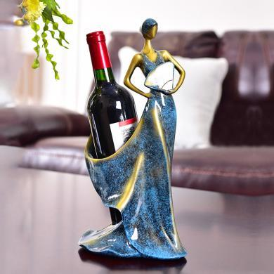 DEVY欧式红酒架家居创意摆件客厅电视柜酒柜茶几餐厅装饰品摆设
