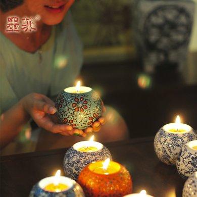 墨菲手工陶瓷燭臺 歐式家居創意擺件裝飾品創意燭光晚餐桌禮物