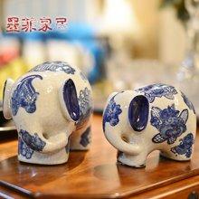 墨菲 情人禮物新中式青花瓷對象家居裝飾品創意客廳玄關陶瓷酒柜電視柜擺件