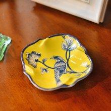 墨菲 美式乡村新中式古典烟灰碟客厅卧室书房时尚陶瓷迷你烟灰缸