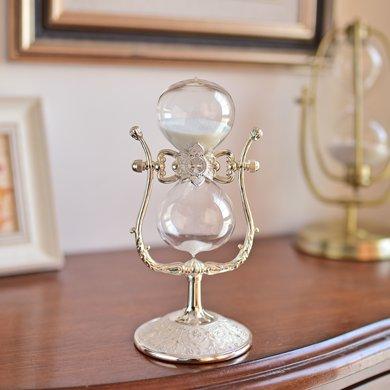 墨菲美式復古金屬沙漏計時器擺件 創意家居軟裝飾品客廳歐式擺設