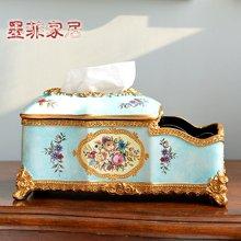墨菲歐式田園多功能紙巾盒美式鄉村客廳餐廳抽紙盒家居裝飾品擺件