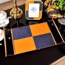 墨菲 欧式创意饰品收纳方形金属托盘 餐桌桌面置物盘化妆品整理