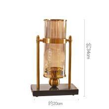 DEVY欧式玻璃烛台花瓶摆件 美式客厅家居创意花瓶装饰品软装摆设