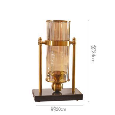 DEVY歐式玻璃燭臺花瓶擺件 美式客廳家居創意花瓶裝飾品軟裝擺設