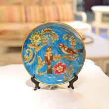 墨菲 歐式陶瓷擺盤擺件家居裝飾品創意客廳博古架酒柜工藝品坐盤