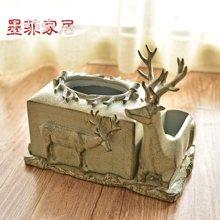 墨菲 欧式复古树脂多功能纸巾盒创意客厅餐桌家用餐巾纸抽纸盒