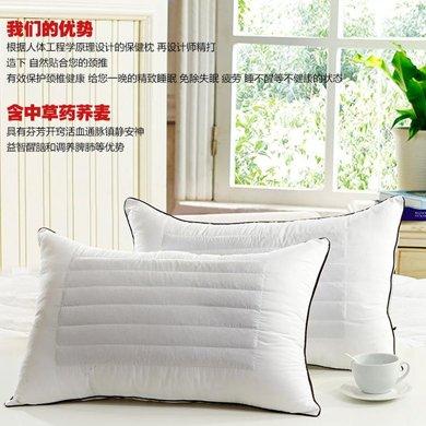 羽芯家纺  荞麦枕头颈椎保健枕头 枕芯一个
