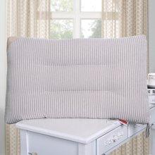 米卡多简约风全棉水洗棉条纹可水洗舒适枕芯纯棉护颈枕头-753