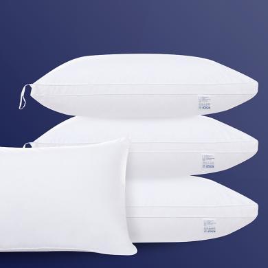 DREAM HOME 全棉酒店羽絲絨枕頭吊帶可懸掛晾曬低中高枕可水洗 97105