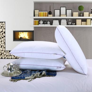 【一對裝】【恒源祥枕頭】全棉五星酒店枕芯枕頭 品質枕頭  舒適高彈枕頭 熱銷枕頭 吸濕透氣枕頭 可調節舒眠枕