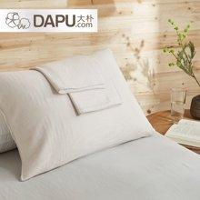 大樸SUPIMA棉紗布條紋枕巾一對裝不易褪色全棉枕巾干爽透氣