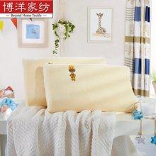 博洋家纺卡通儿童乳胶枕狮子长颈鹿