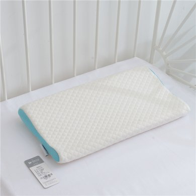 蒂品生活 正品儿童枕头柔软透气儿童记忆枕幼儿宝宝0-6岁护颈定型枕枕芯加枕套两端可用