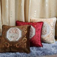 DREAM HOME 歐式刺繡抱枕靠墊 沙發靠枕套 大號可拆洗繡花靠墊565880