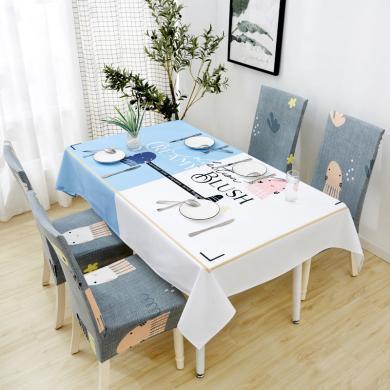 羽芯家紡   棉麻防水北歐餐桌布桌布