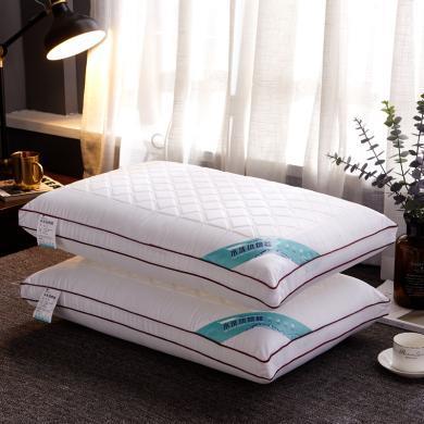 VIPLIFE全棉枕头三线格热熔枕芯中高枕头