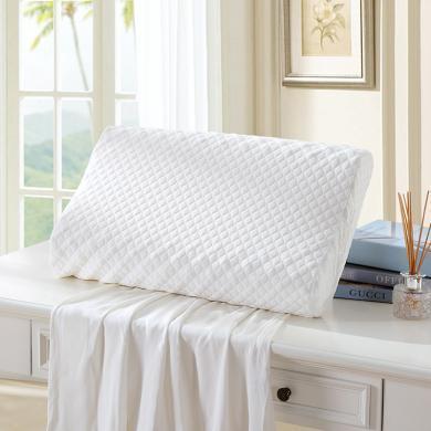 LOVO家纺 经典泰国进口90%乳胶含量按摩枕 枕头枕芯乳胶枕