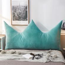 羽芯家紡  新款純色皇冠水晶絨靠背靠墊抱枕 靠枕枕頭
