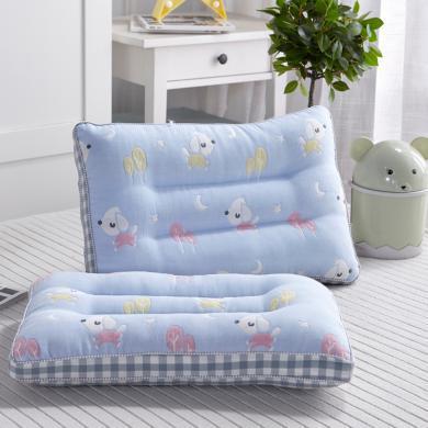 VIPLIFE全棉六層紗兒童深睡枕頭舒適款