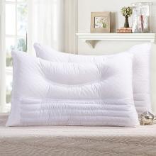 VIPLIFE荞麦枕头枕芯 全棉弧形绗绣荞麦枕头