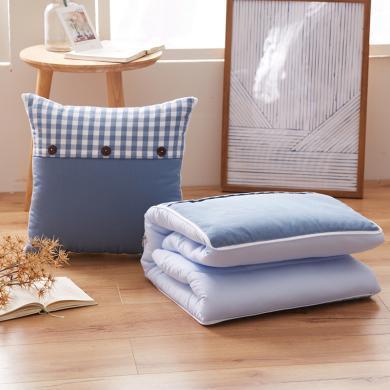 DREAM HOME 多功能沙發汽車抱枕色織雙拼抱枕被靠墊466189
