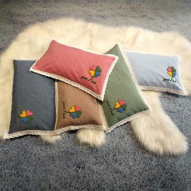 DREAM HOME 全棉水洗棉毛巾繡蕎麥枕約2.5斤451962